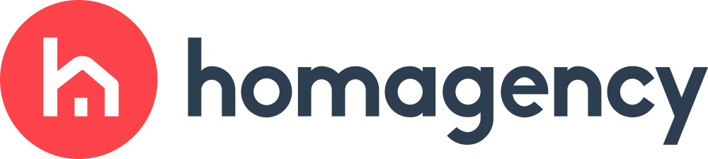 Logo de la startup Homagency com, la plateforme digitale qui réconcilie les Français avec la vente immobilière entre particuliers