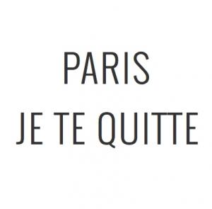 Logo de la startup Paris, je te quitte
