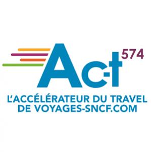 Logo de la startup #ACT574, l'accélérateur de OUI sncf