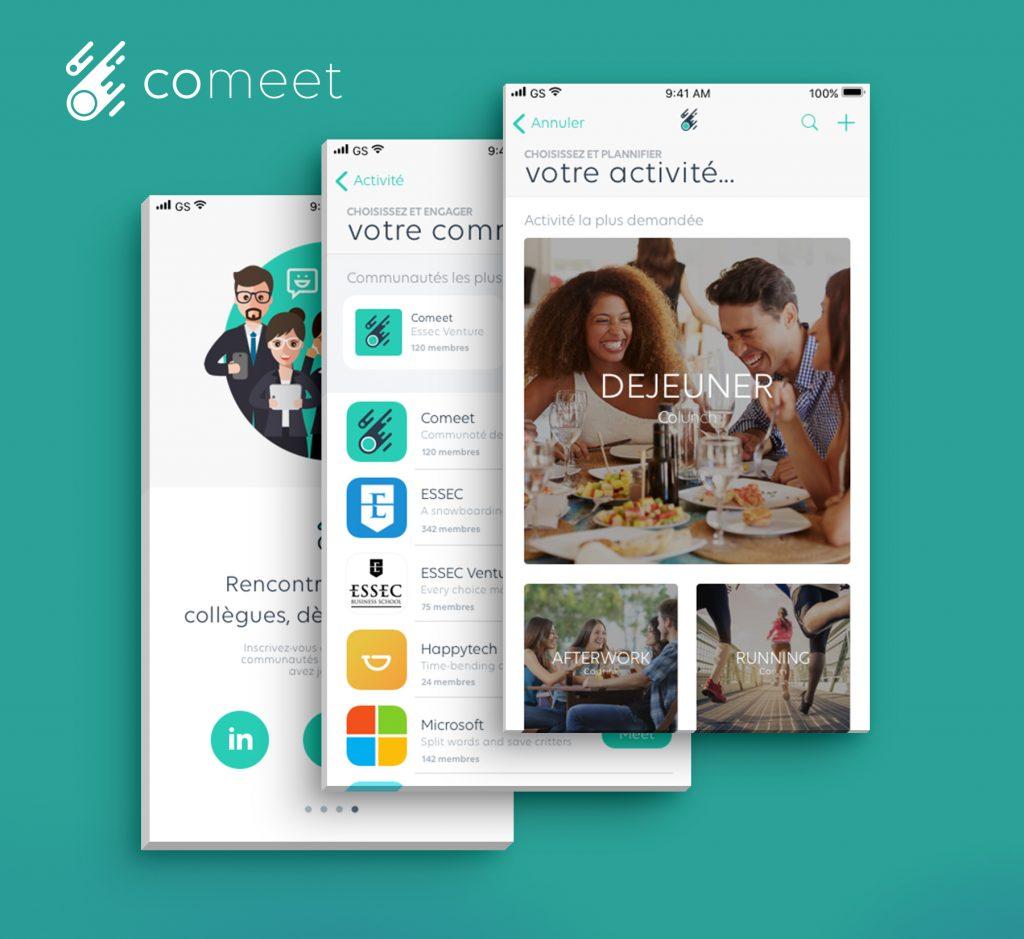 Logo de la startup COMEET, l'IA au service du bien-être au travail