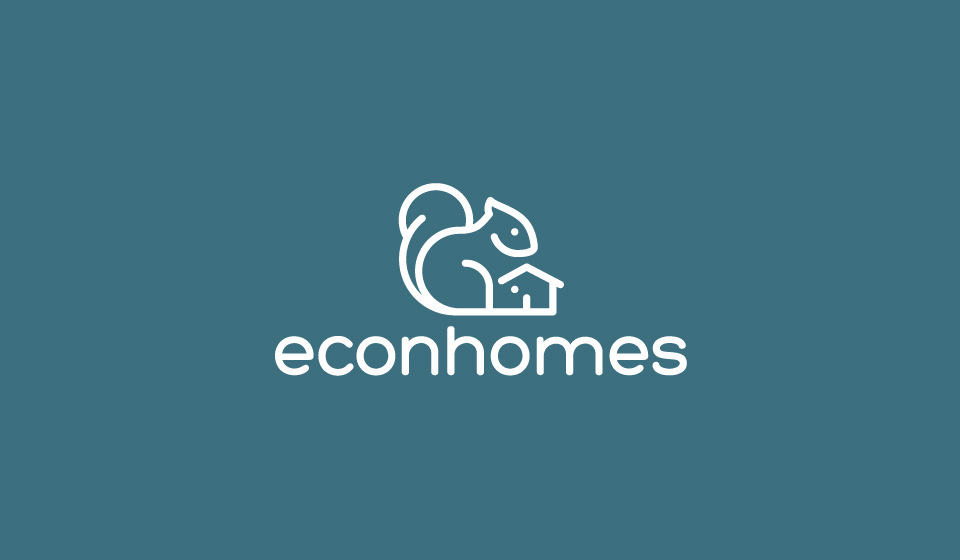 Logo de la startup econhomes - les spécialistes de l'optimisation des charges de copropriété