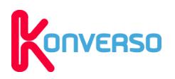 Logo de la startup Konverso