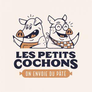 Logo de la startup Les Petits Cochons : on envoie du pâté !