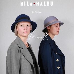 Illustration du crowdfunding Le feutre Diane K, le nouveau chapeau créé par la Maison Mila-Malou