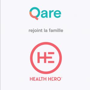 Logo de la startup QARE est racheté par HealthHero