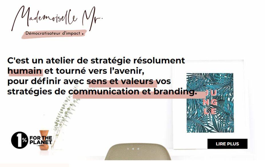 Logo de l'agence stratégie MademoiselleMonsieur