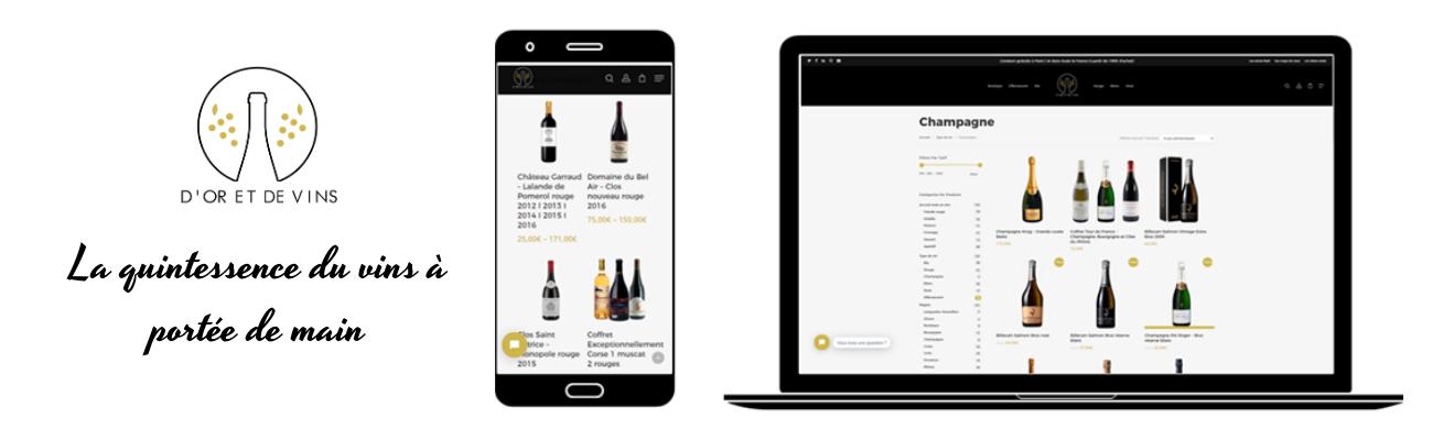 Logo de la startup D'or et de vins