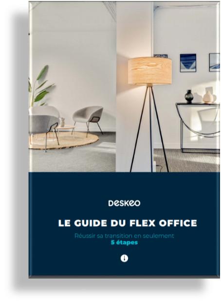 Logo de la startup Deskeo publie le guide du flex office