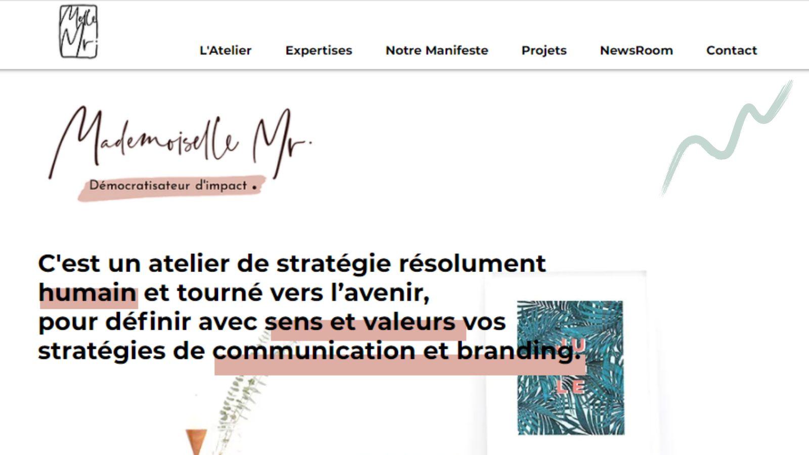 Atelier de stratégie MlleMr pour votre communication et branding